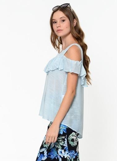 Kolları Volanlı Omuzları Açık Bluz-Fashion Friends